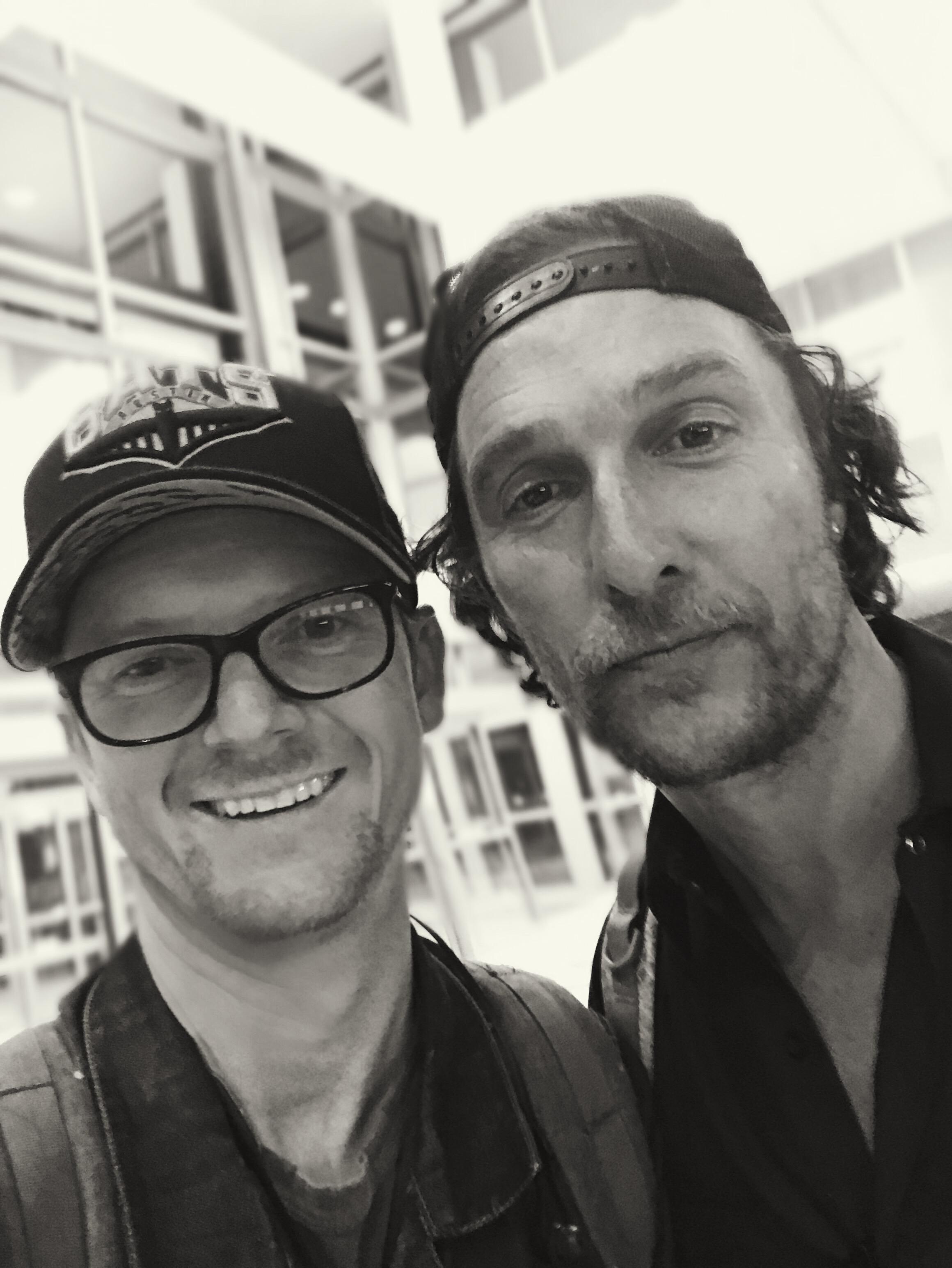 Kyle Bunch with Matthew McConaughey